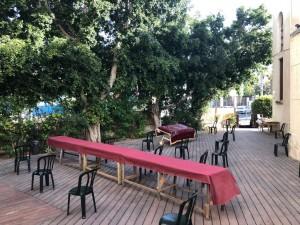Shomron Garden Deck Davening 1