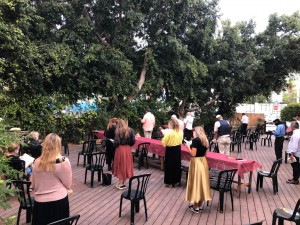 Shomron Garden Deck Davening 4